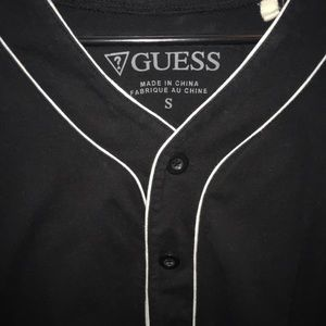 Guess Shirts - Guess black baseball jersey size small
